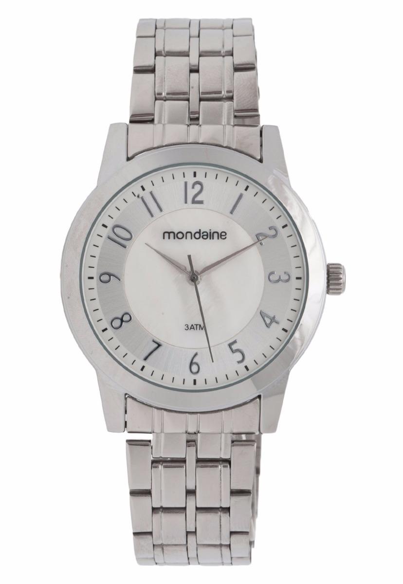 296acb792e5 relógio mondaine feminino analógico todo prata 94686l0mvne1. Carregando  zoom.