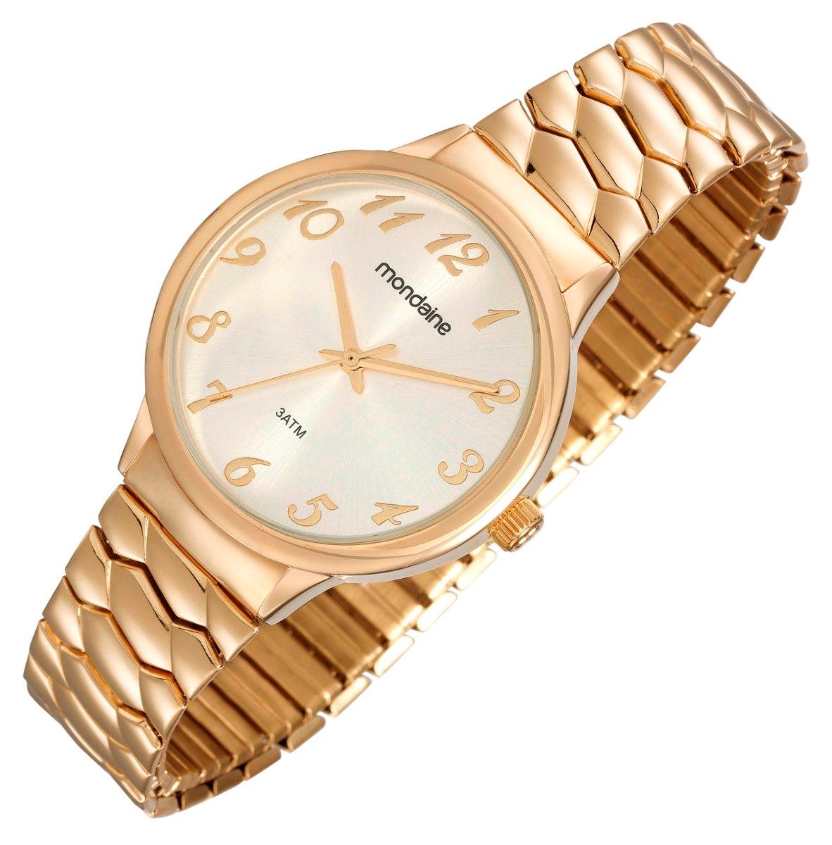 76fd7868c67 relógio mondaine feminino clássico dourado 83313lpmgde2. Carregando zoom.