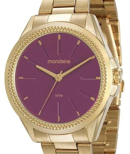 relógio mondaine feminino dourado - 53538lpmvde3