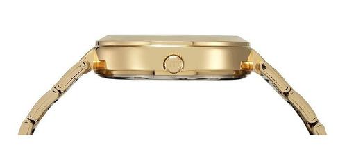 relógio mondaine feminino dourado cristais 76615lpmvde2