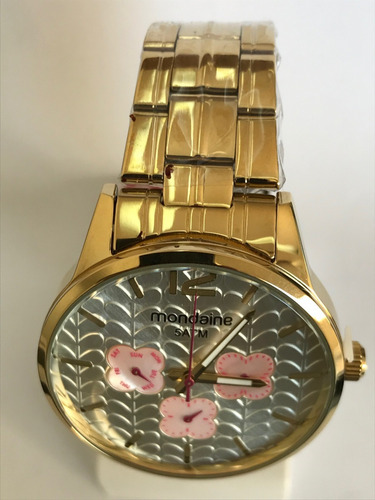 relógio mondaine feminino dourado multifunção 78737lpmvda3