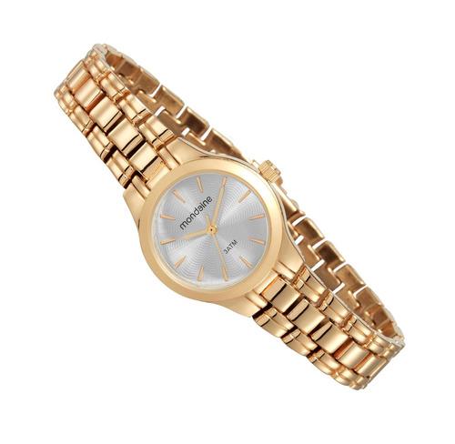 relógio mondaine feminino dourado pequeno 53539lpmvde1