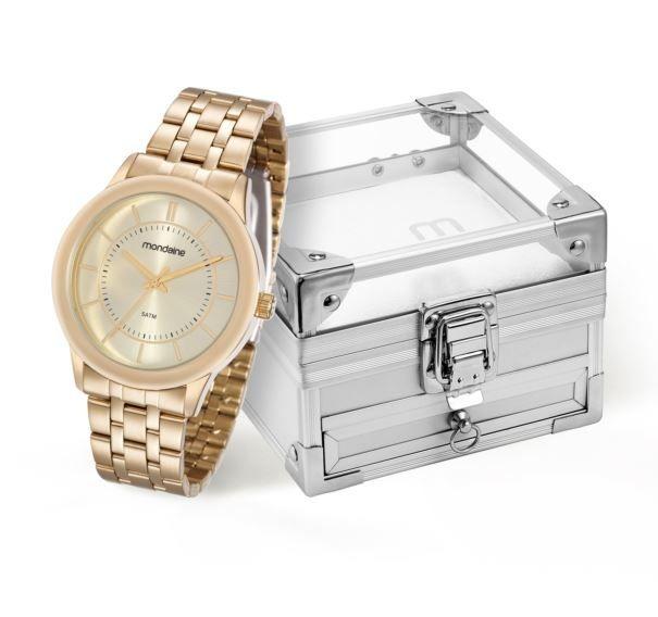 37ca3f0858a Kit Relógio Mondaine Feminino Caixa De Jóias 83338lpmvde1k2 - R  169 ...