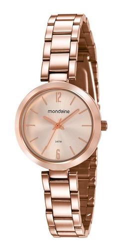 relógio mondaine feminino rosê 53611lpmvre2