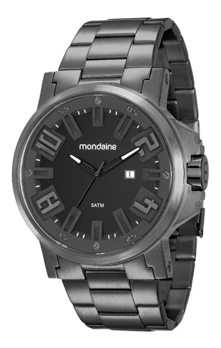 relógio mondaine masculino 99233gpmvps2 50mm aço preto