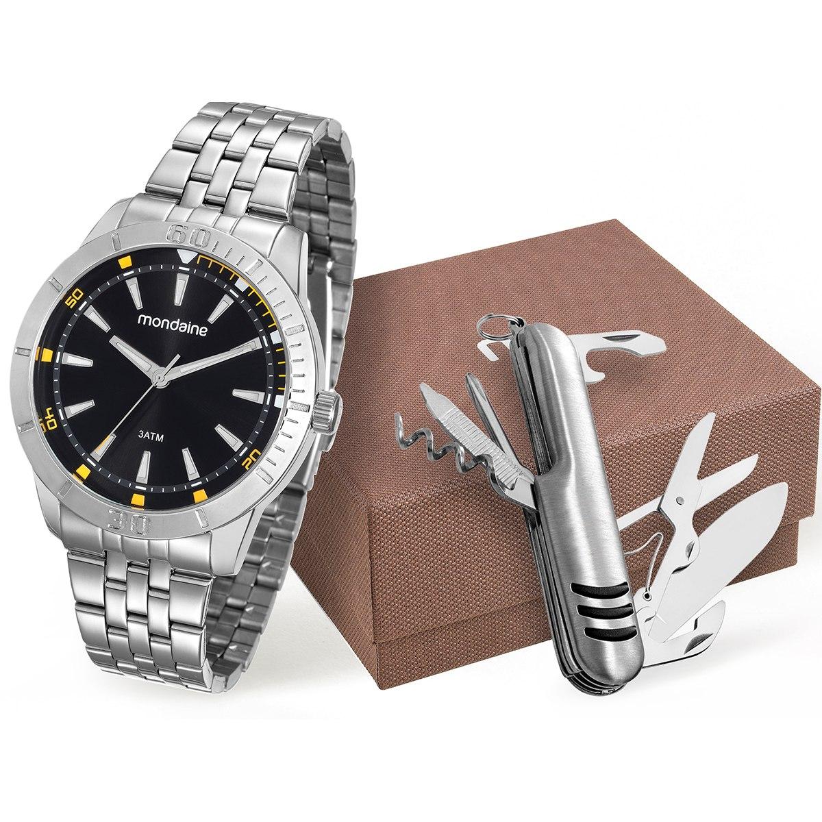 8fc6c1034 Kit Relógio Mondaine Masculino 99144g0mvne1k1 - R  139