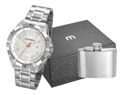relógio mondaine masculino + cantil bolso+ nf 53833g0mvne2k1