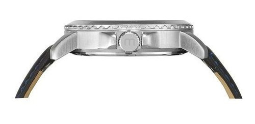 relógio mondaine masculino prata couro 76690g0mvnh2