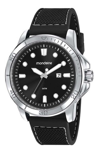 relógio mondaine masculino prata sport