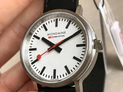 relógio mondaine railways sbb stop2go white movimento unico