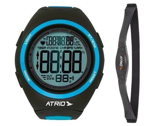 bfc42c4040c Relogio Monitor Cardíaco Medidor Frequência Cardíaca Atrio - R  199 ...