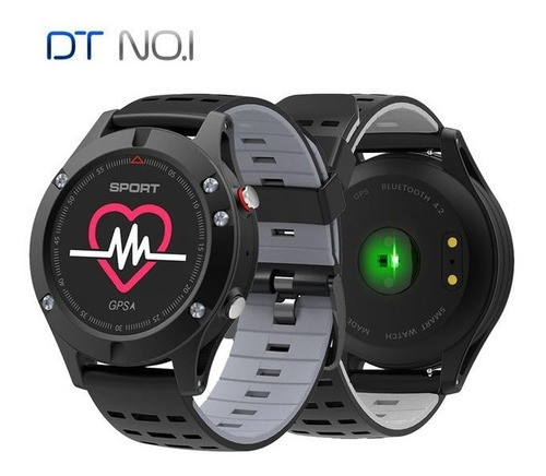 relogio monitor cardíaco smart watch gps multi esporte f5 t