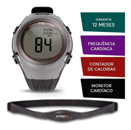 relogio monitor frequencia cardiaca esportes academia atrio