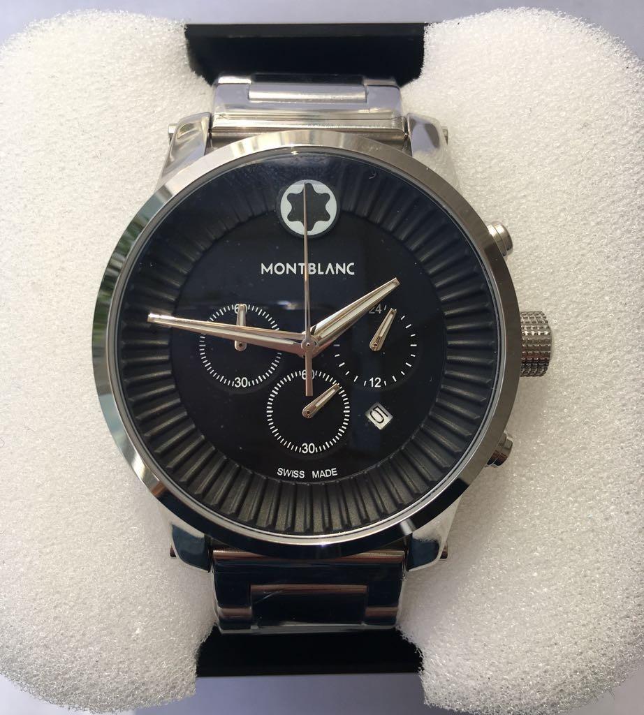 f75f1f615d2 relógio mont blanc aço inox fundo preto - a pronta entrega. Carregando zoom.