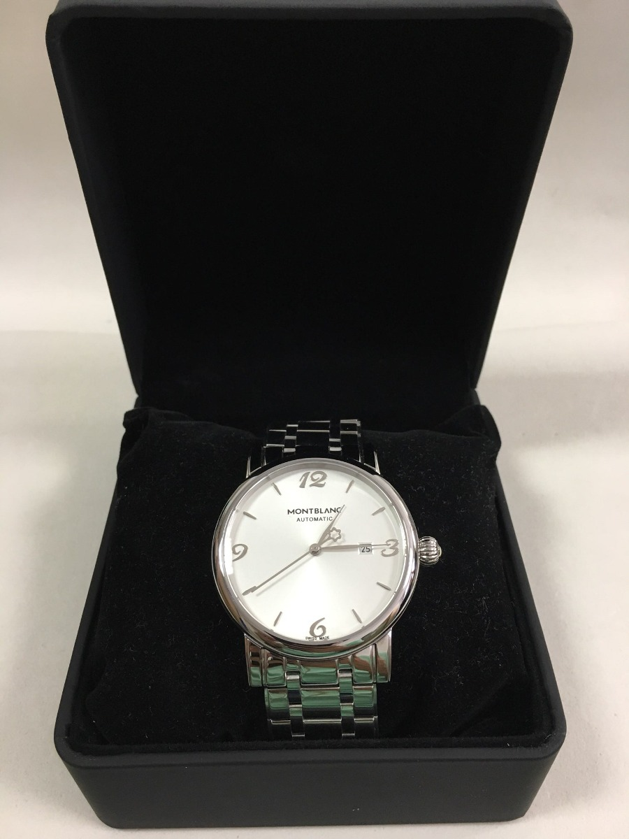 ff87ccd32d6 relógio mont blanc star classic date automatic todo aço+caix. Carregando  zoom.