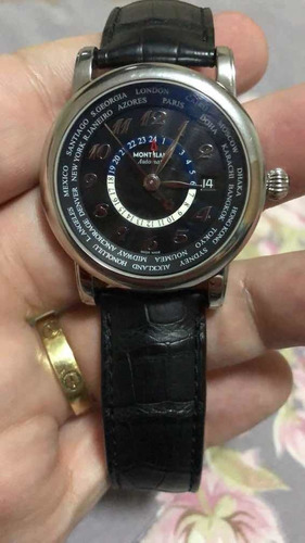 relógio montblanc 104646 star collection automático