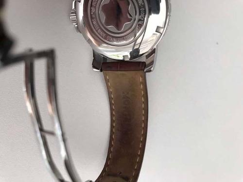 relógio montblanc meisterstuck original, pulseira de couro