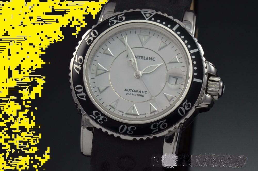 94898d6a8fb relógio montblanc meisterstück sport mergulho automático. Carregando zoom.