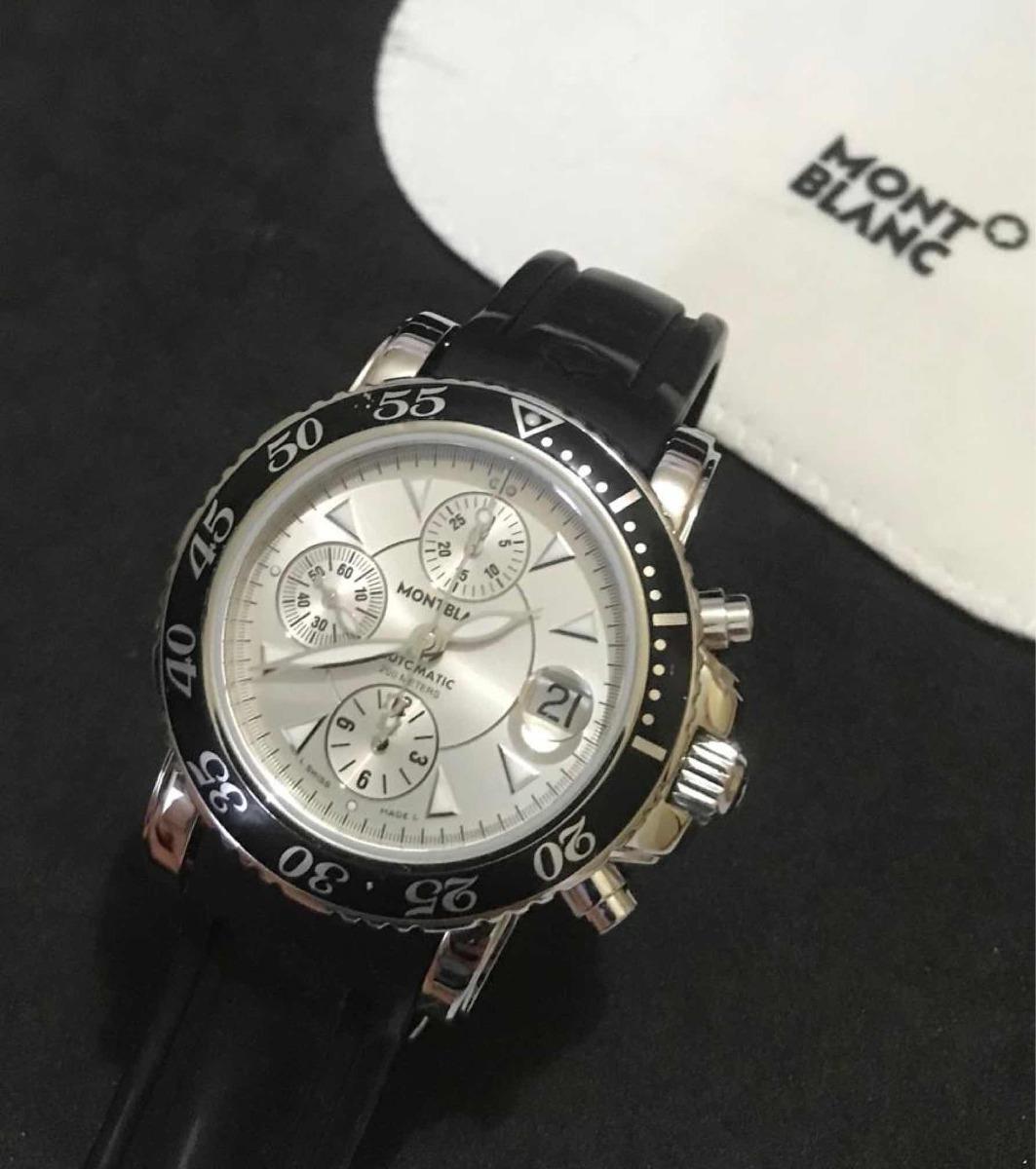 6d83ae20998 Relógio Montblanc Revisado Nota Fiscal Sport Mont Blanc 42mm - R ...