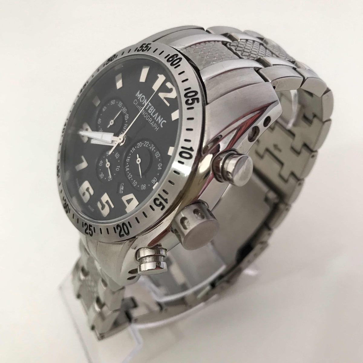 7f2d557c1f6 Relógio Montblanc Prata Fundo Preto