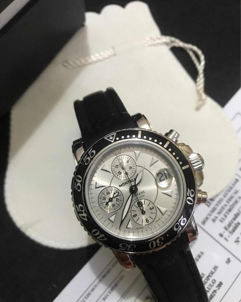 bfb757ddabb relógio montblanc revisado nota fiscal sport mont blanc 42mm. Carregando  zoom.