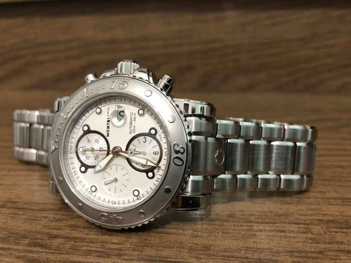 relógio montblanc sport xl 7179 44mm chronografo automático
