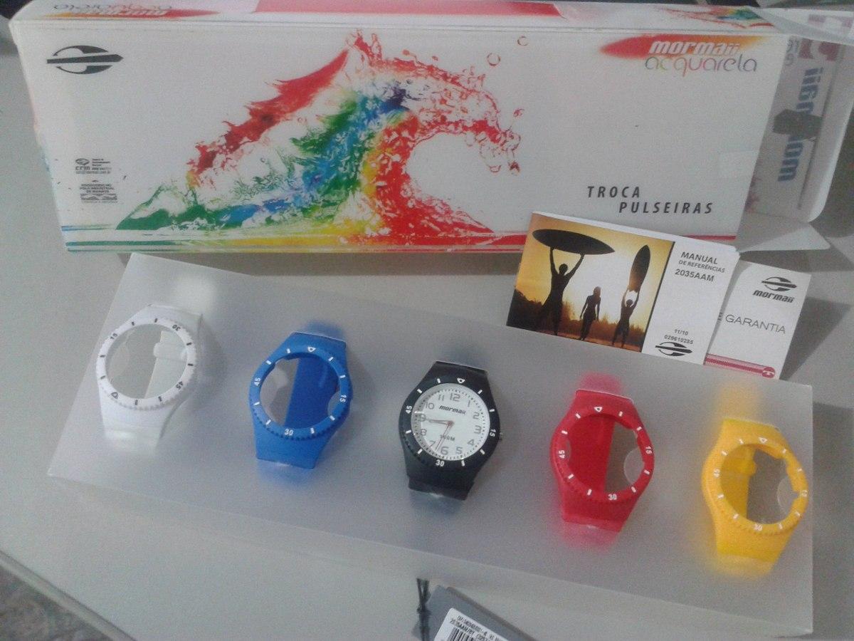 0441f276d2f relógio mormaii acquarela troca pulseira 5 cores. Carregando zoom.