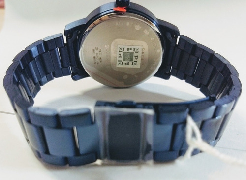 relógio mormaii azul aço prova d'água 50atm
