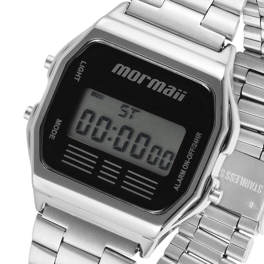 53503206313ea relógio mormaii digital feminino mojh02aa 3p prata preto nfe. Carregando  zoom.