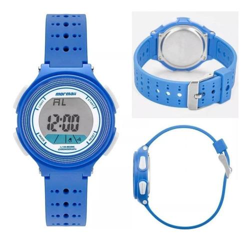 relógio mormaii digital infantil azul original mo0974/8a