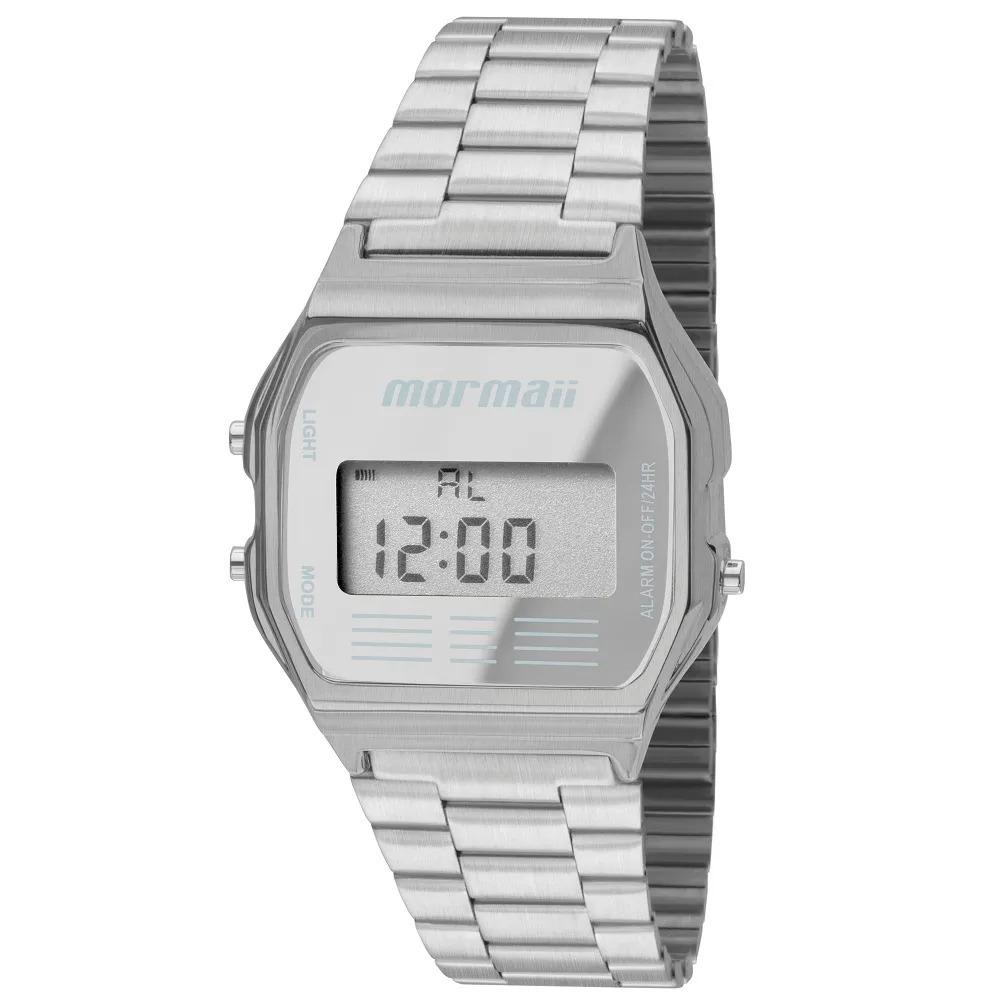 43b72b6e31e47 relógio mormaii digital maui mojh02aa3c prata. Carregando zoom.