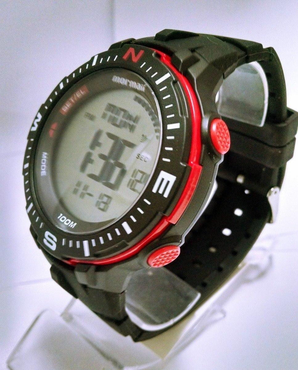 3ddaf9297ff relógio mormaii digital preto com vermelho grande monk006 8r. 3 Fotos