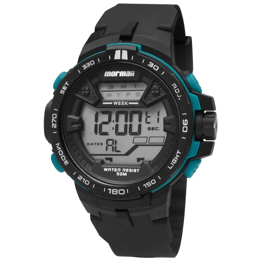 5a1763267e6 Relógio Mormaii Digital Sport Wave Mo33908v Preto - R  199