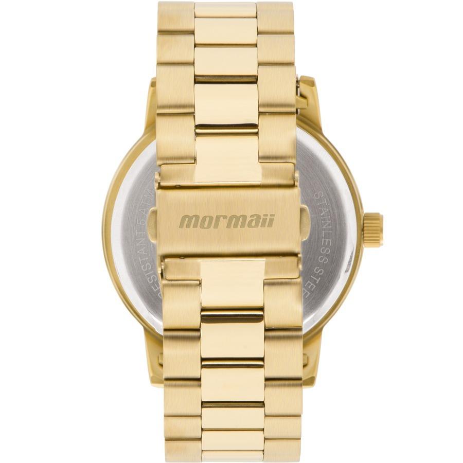 510feaae467 Relógio Mormaii Feminino Sunset Dourado E Azul Mo2035iw 4d - R  105 ...