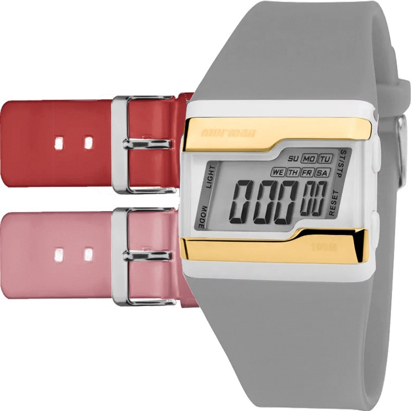 dda6f260e89 Relógio Mormaii Feminino Troca Pulseira 3 Cores Fzv t8x - R  149