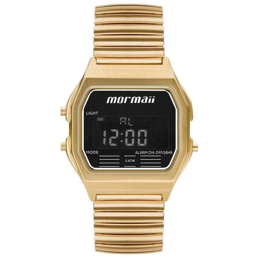 Relógio Mormaii Feminino Ref  Mojh02au 4d Retrô Dourado - R  247,90 ... 9eb89b0fef