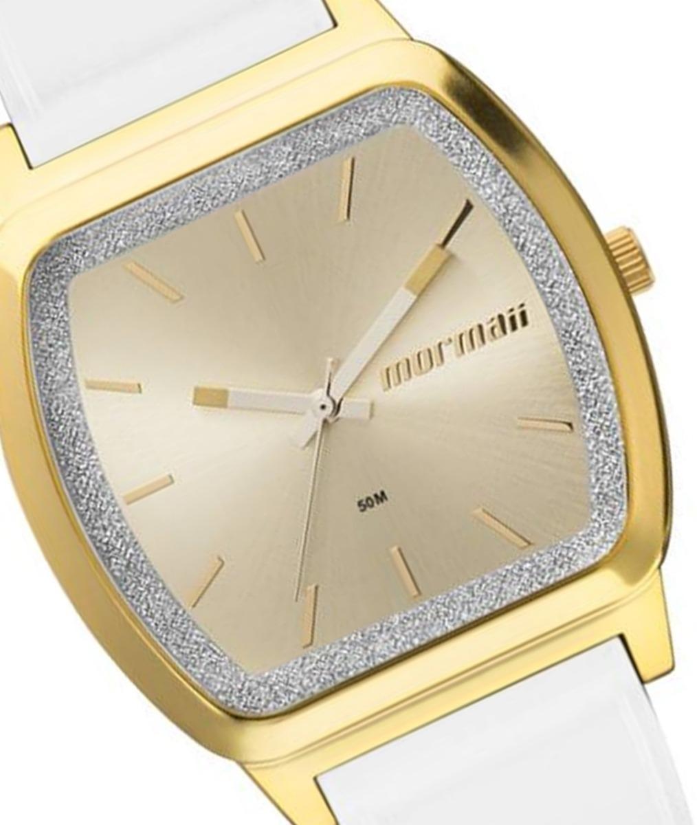 Relógio Mormaii Feminino Mo2036ey 8a Dourado Branco - R  149,90 em ... 8442a6c971
