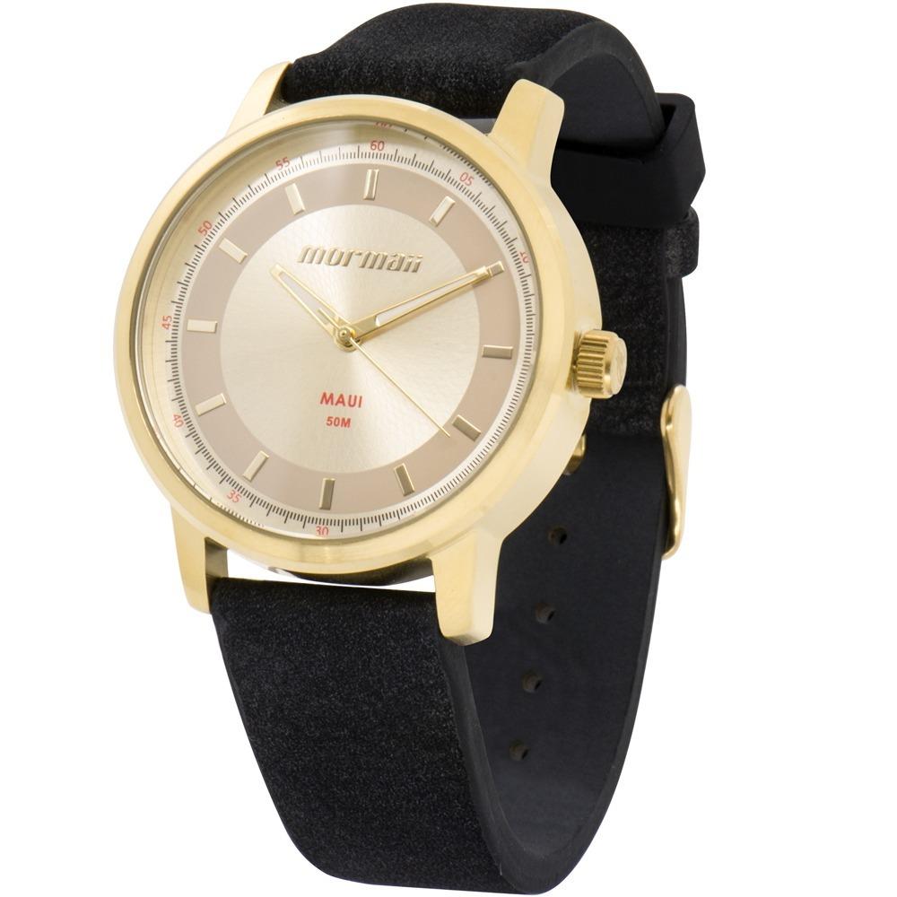 26226f254a3d4 Relógio Mormaii Feminino Dourado E Preto Barato Mo2035ib 2d - R  99 ...