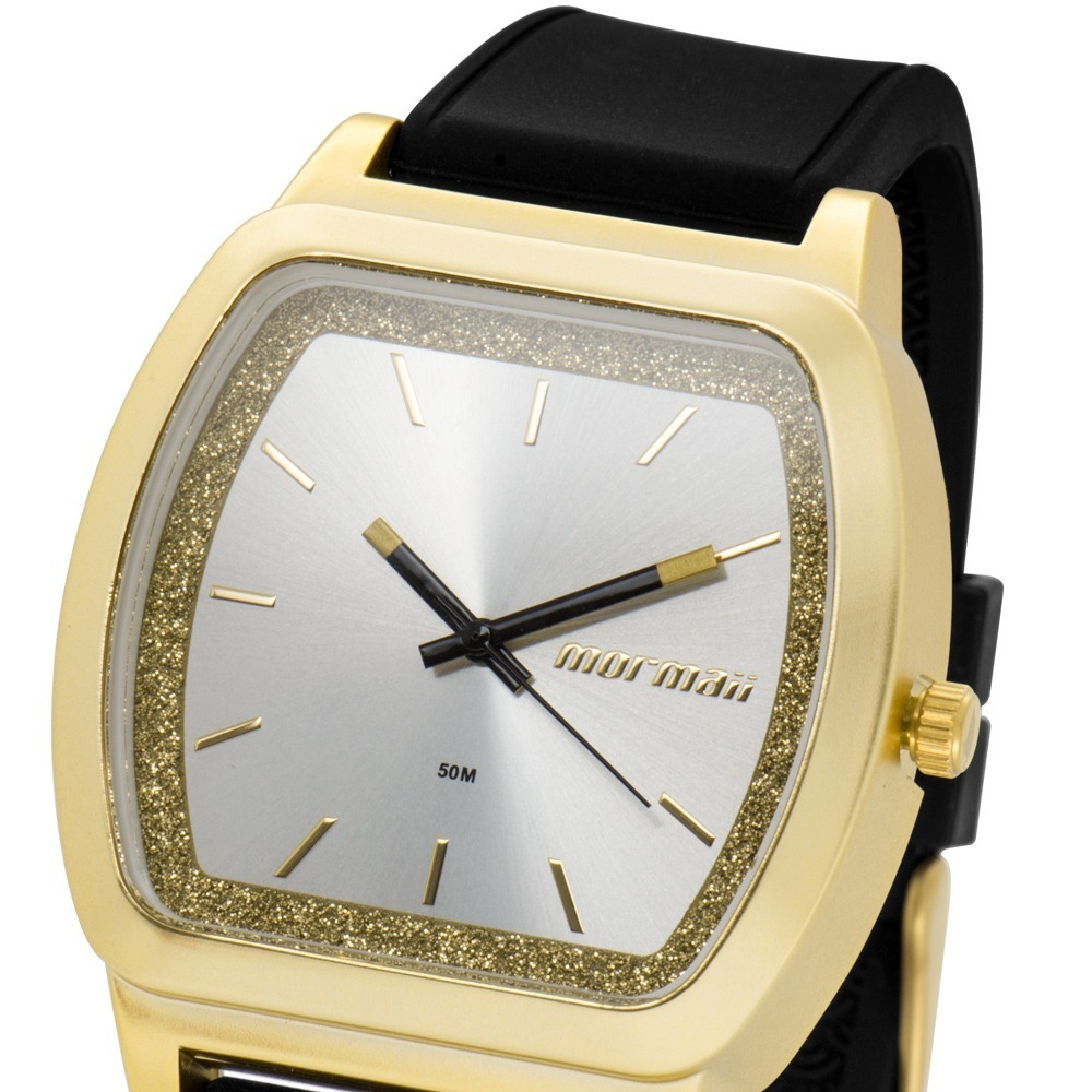 63d9a364aac Relógio Mormaii Feminino Luau Dourado Preto Nfe Mo2036ey 8p - R  105 ...