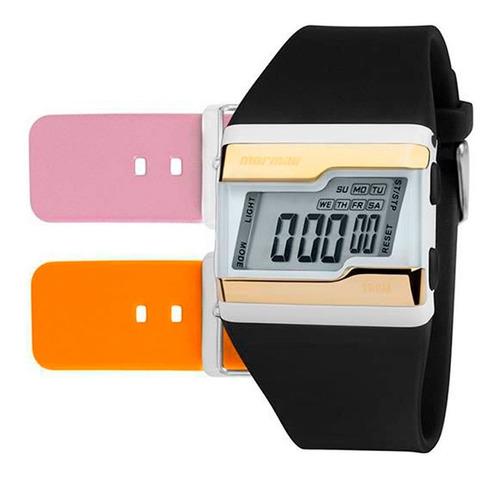 relógio mormaii feminino acquarela fzw/t8e - troca pulseira