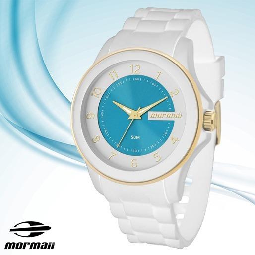 Relógio Mormaii Feminino Branco Luau Mo2035an 8b Original - R  149 ... 3d224e34a5
