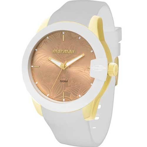 Relógio Mormaii Feminino Branco Puls. Silicone Mo2035dk 8d - R  149 ... 45847b6f54