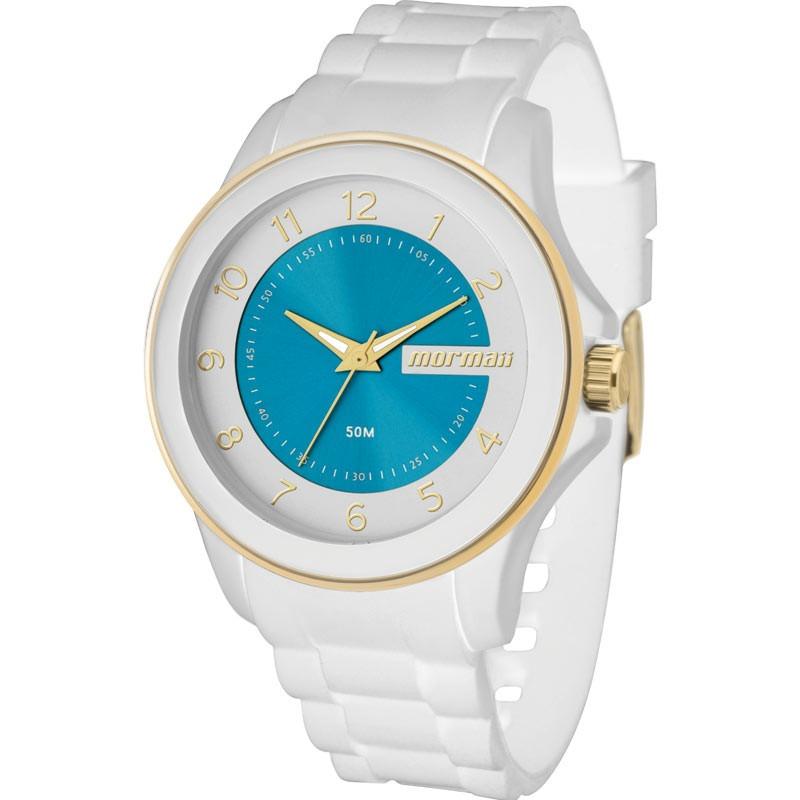 Relógio Mormaii Feminino Branco Slicone Mo2035an 8b - R  149,90 em ... e1305be11f