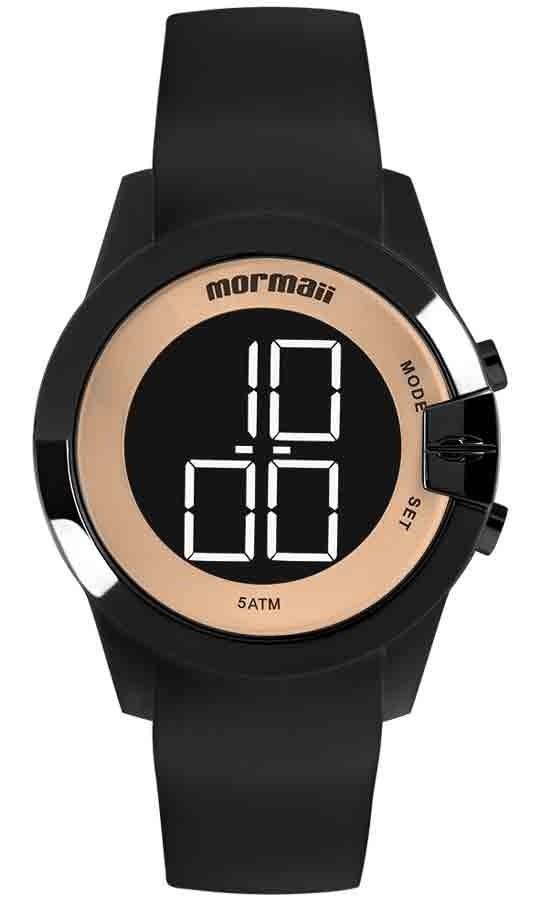1648f762a96 relógio mormaii feminino digital mo13001a 8j preto dourado. Carregando zoom.