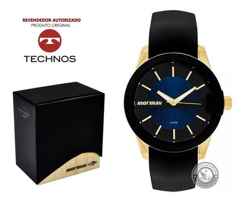 relógio mormaii feminino dourado azul original garantia e nf