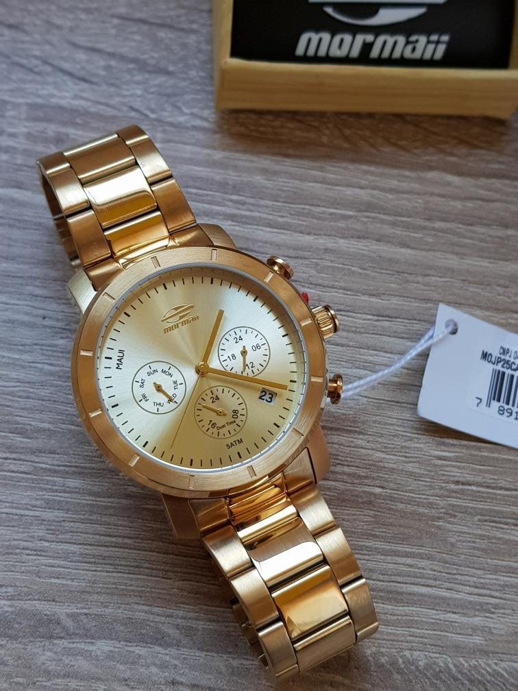 78e179d7b7c relógio mormaii feminino maui aço dourado mojp25caq 4d. Carregando zoom.