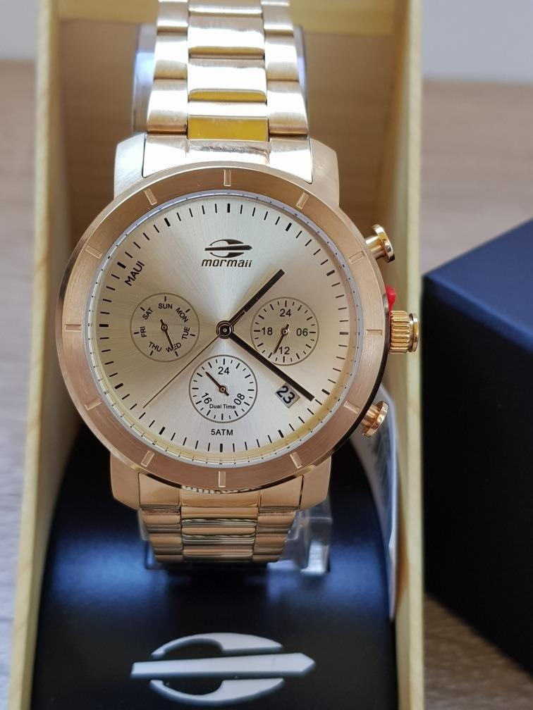 ... relógio mormaii feminino maui aço dourado mojp25caq 4d. Carregando  zoom. f0b35ecd5b5924 ... f637c762bf