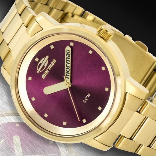 relógio mormaii feminino maui original mo2035df/4r