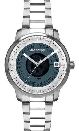 relógio mormaii feminino maui prateado mo2415aa/1a - c/ nfe