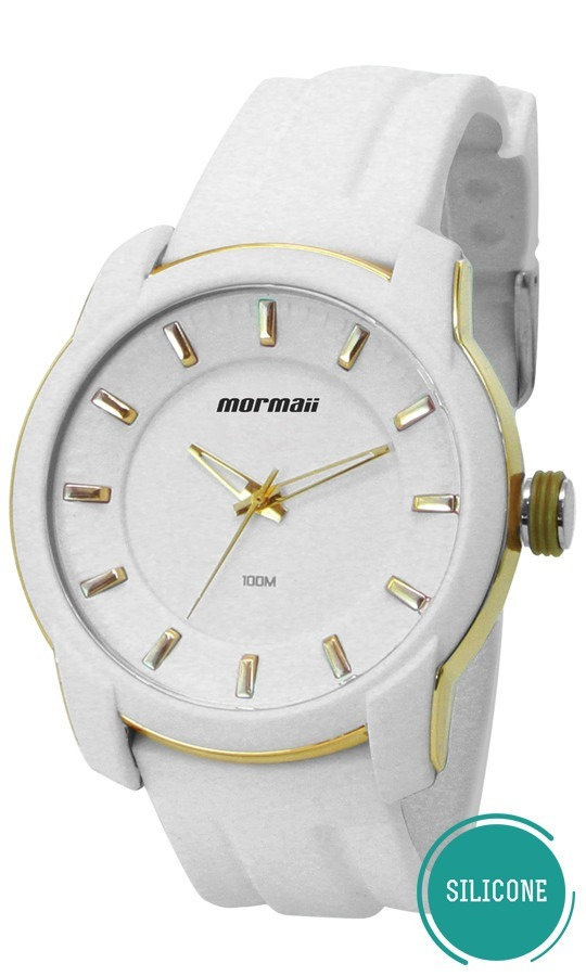 relógio mormaii feminino silicone branco moint2035ab 8b. Carregando zoom. a6e4fc747b
